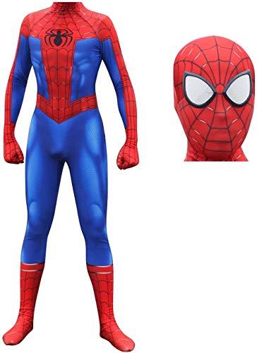 Peter Parker Spiderman Traje de Carnaval Cosplay, Traje de Cosplay Venom Niños Adulto Set Apretado Hombres Navidad, Traje Niños Superhéroe Bodysuit