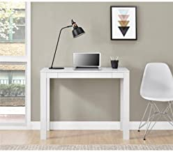 Mainstays Furniture New Parsons Desk with Drawer, Multiple Colors (White)