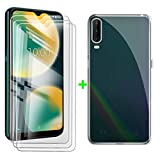 ZXLZKQ Case + 3 Pieces Tempered Glass Screen Protector for