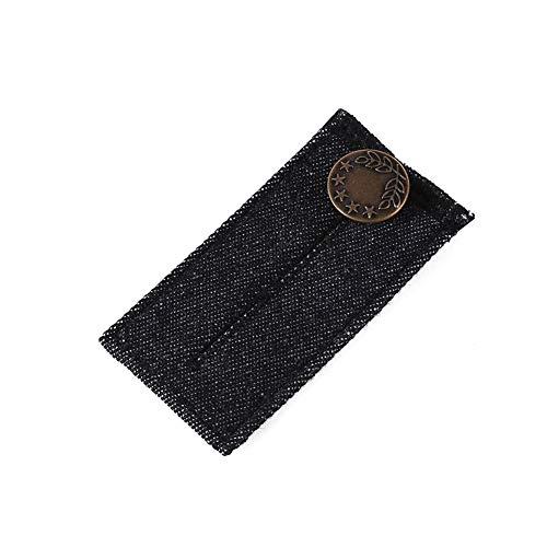 Geshiglobal Jeans Taillengürtel Verlängerung Knopf Umstandsmode Kleidung Übergewichtige Menschen Hosen Zubehör Schwarz