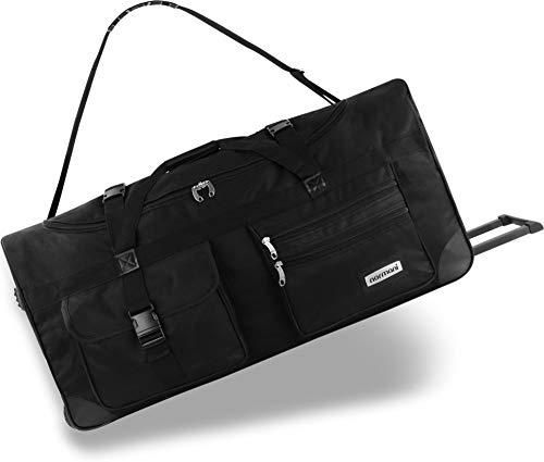 normani XXL Reisetasche mit Trolleyfunktion - 80, 100, 120 oder 150 Liter - mit 3 Rollen und 3 Verstärkungsstreben Größe 80 Liter