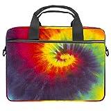 Tie Dye Colors, Hippie Swirl patrón de lona para ordenador portátil, bolso bandolera, para Apple MacBook de 34 a 14,6 pulgadas