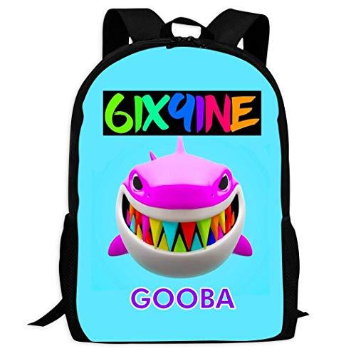 Hengtaichang Fashion Shark Gooba_6ix9ine BagTravel Backpack Laptop Large Capacity Student College Backpack for Men/Women