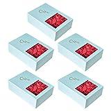 Amosfun Cajas de Regalo de Embalaje de Joyas con jabón de Cuerpo Pendientes de Rosas Collar Caja de Regalo Conjunto de Joyas Caja de Regalo Caja (Joyas) 5 Piezas
