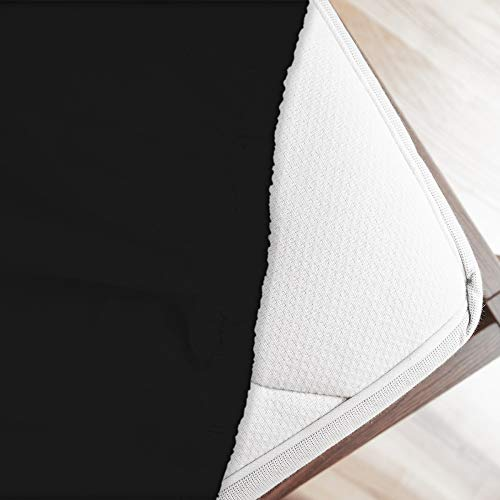 Bettlaken Bett Spannbettlaken 100% reiner Baumwolle made in Italy Uni–Orange, schwarz