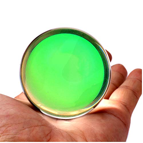 DSJUGGLING 75mm Fushigi Glow in The Dark Ball, 3' Professional Contact Juggling Novelty Floating...