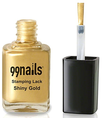 99nails Stamping Lack - Shiny Gold, 1er Pack (1 x 12 ml)