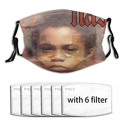 NAS - Illmatic Face Mask Cover Mouth, Dustproof Filter, Unisex Adult, Reusable Mask