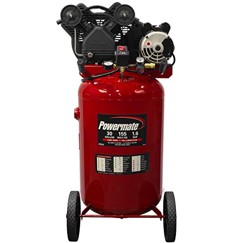 Powermate Vx PLA1683066 30-Gallon Portable Twin Cylinder...