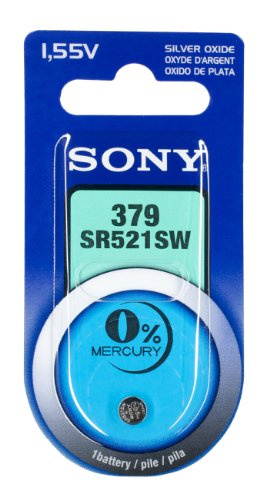 Sony Silber-Oxid Knopfzelle Code 379 155 V  17mAh