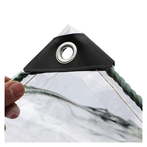 ALGFree Claro Impermeable Lona de Protección, a Prueba de Polvo Impermeable Lona Cubrir por Cámping Pescar Jardinería Vidrio Blando, Personalización de Tamaño (Color : Clear, Size : 2x2m)