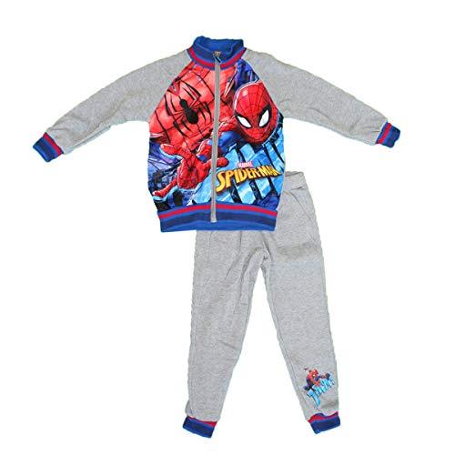 Spider-Man Jogginganzug, Oberteil + Strümpfe Gr. 4 Jahre, grau