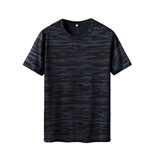 Camisetas Hombre Manga Corta Verano 2019 Nuevo SHOBDW Cuello Redondo Camisetas Hombre Deporte Gym Fitness Ropa de Secado Rapido Camisetas Tallas Grandes Venta de Liquidación L-6XL(Verde,6XL)