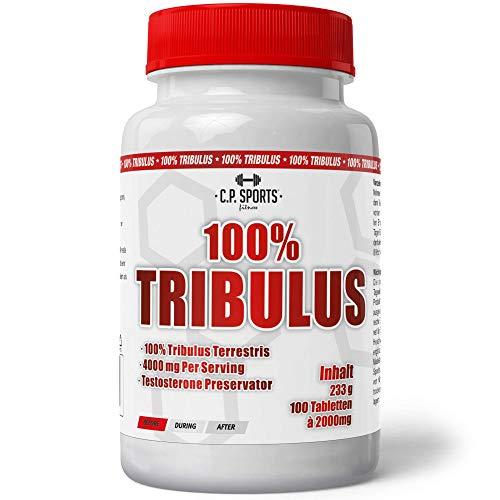 Tribulus Terrestris - 100 Tabletten á 1500mg natürliches Anabolika, für einen natürlichen Testosteronhaushalt, Muskelaufbau und Kraftaufbau