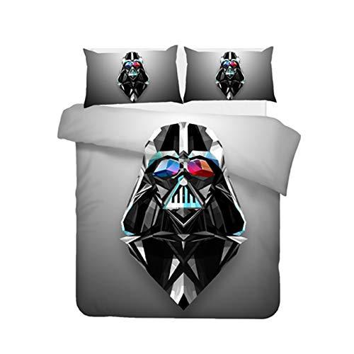 Goplnma Star Wars - Juego de cama (funda nórdica y funda de almohada de 3,200 x 200 cm), diseño de Star Wars