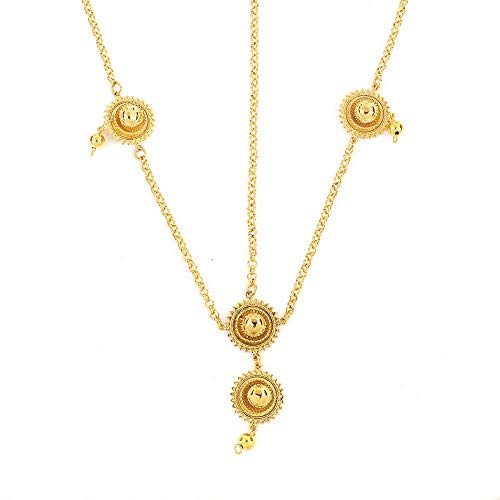 Cadena de pelo etíope de moda 24 K Color dorado accesorios para el cabello para mujer joyería de moda