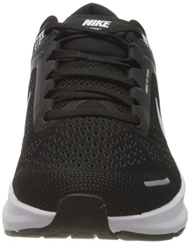 Nike Air Zoom Structure 23, Running Shoe Hombre, Black/White-Anthracite, 44 EU