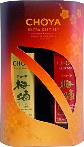 Choya Estuche De Regalo Choya - Choya Extra Shiso 350Ml Y Choya Royal Honey 350Ml (Licor De Frutas Japonesas, Alcohólico, Licor De Frutas Ume) Paquete De 2 (2 X 350 Ml) - 700 ml