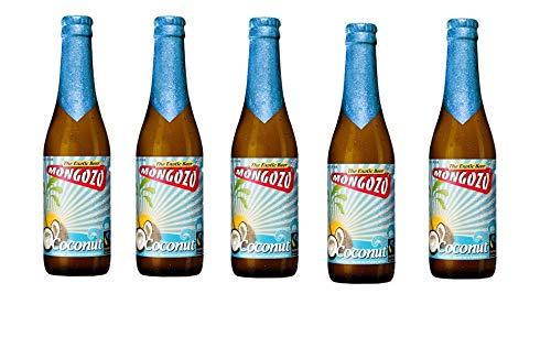 5 Flaschen Mongozo Coconut Exotic Beer 3,6% Vol.a 330ml inc. 0.40€ MEHRWEG Pfand Bier + Kokusnuss