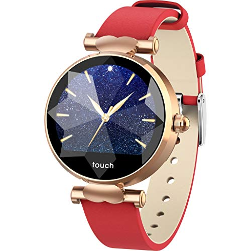 Kariwell Women's Trendy Smart Watch - Blood Pressure&Heart Rate Sport Smart Watch Bracelet for Android iOS Best Gift for Her Kari-49 (Red)