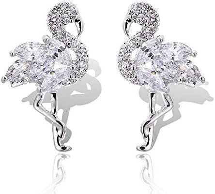925 Sterling Silver Diamond Stud Earrings The Flamingo Earrings for Women Animal Stud Earrings product image