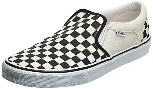 Vans Asher Sneaker, Zapatillas Hombre, Blanco (CheckersWhite IPD), 41 EU