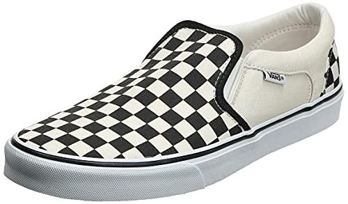 Vans Asher Sneaker, Zapatillas Hombre, Blanco (CheckersWhite IPD), 35 EU