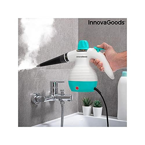 InnovaGoods - Mehrzweck-Handdampfreiniger mit 9-in-1-Zubehör, 0,35 l, 3 Bar, 1000 W