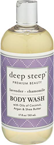 Deep Steep Body Wash Lavender Chamomile Natural, 17 Fl Oz