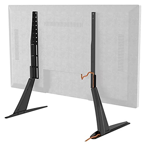 Soporte de TV VESA para televisores de 27' a 55' con gestión de cables y ajuste de altura (color: negro)