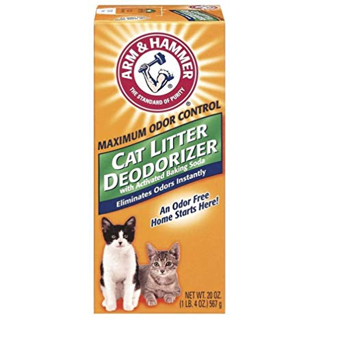 ARM & HAMMER Cat Litter Deodorizer With Activated Baking Soda 20 oz (Pack of 5)