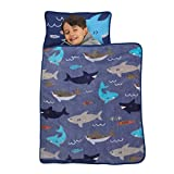 Everything Kids Blue & Grey Shark Toddler Nap Mat with...