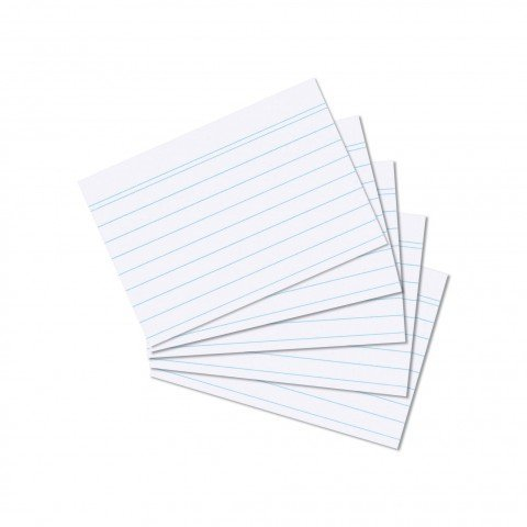 1000 Karteikarten in A6 weiß liniert von Herlitz [Sparpaket]