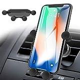 ICHECKEY Soporte para Teléfono Celular para Automóvil, Movil Coche para Rejillas del Aire de Coche para iPhone 11 Pro/XS MAX/XR/X / 8/7/6, Galaxy S10 / S10 Plus / S10e / 8 / S7 (Gray)