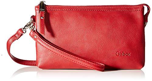 Gabor Umhängetasche Damen Emmy, Rot (Dunkelrot), 22.5x13.5x4.5 cm, Gabor, Clutch, Abendtasche