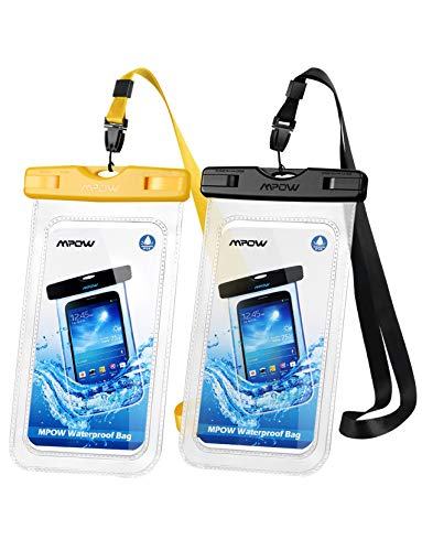 Mpow Wasserdichte Handyhülle Waterproof Phone Case 7,0 Zoll (2 Stück) Handy Wasserschutzhülle DOPPELT VERSIEGELT für Schwimmen, Baden und Kochen, iPhone 11/iPhone SE/iPhone 8/Galaxy S20/S10/S9