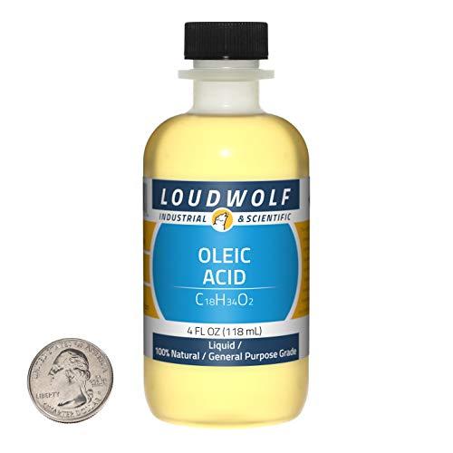 Oleic Acid / 4 Fluid Ounce Bottle / 100% Natural General Purpose Grade/Liquid/USA