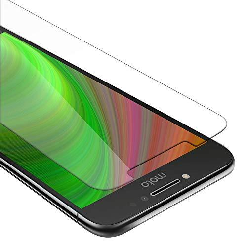 Cadorabo Verre Trempé pour Motorola Moto E4 Plus en Haute Transparent - Film Protection Écran en Verre Trempé pour Display - Tempered Vitre Protection Protecteurs