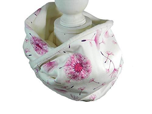 Loop-Schal Pusteblume Dandelion creme pink Rundschal Halstuch Tücher