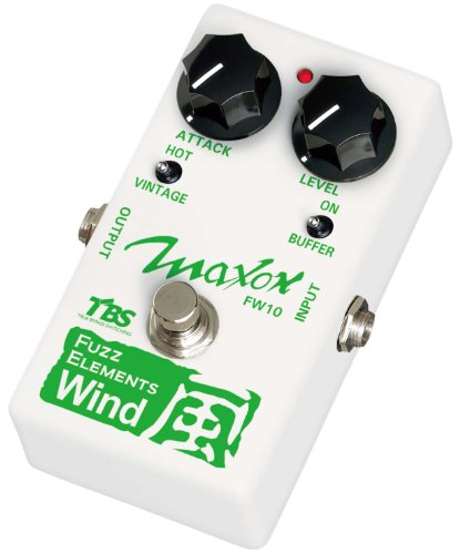 Maxon Compact Series FW10 Fuzz Elements Wind Bass Distortion Effects Pedal