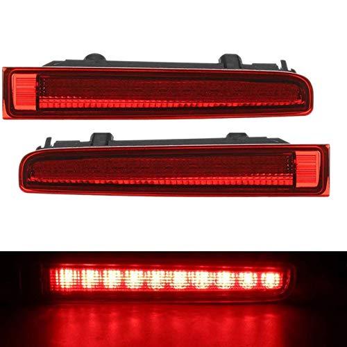 SODIAL 2 Unids Coche Tercera Luz de Freno Alta Puerta de Granero Luz de Freno Trasera LáMpara de Freno de Montaje Alto para- T5 T6 para Multivan Caravelle 2003-2016 Rojo