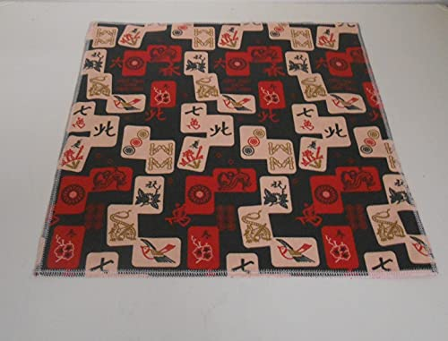 Handcrafted by me~Double Sided/Reusable/Machine Washable Mah Jongg Themed 11 1/2' square Cloth Napkins