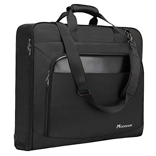 Modoker Suit Luggage Garment Bag with Shoulder Strap, Suit Carry on Bag Hanging Suitcase Black Garment Bags for Men Women Business...