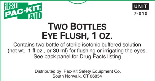 First Aid Only 7-010 Eye Flush, 1 oz Bottle (Box of 2)