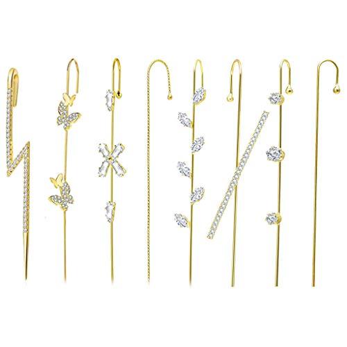 ciriQQ Pendientes elegantes para mujer, diseño de gancho de oruga, para Navidad, Año Nuevo, regalos de cumpleaños