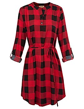 Best red flannel dress Reviews