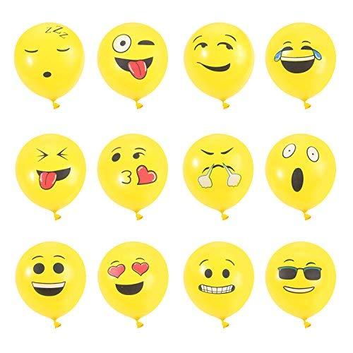 Beyond Dreams 72 Luftballons mit verschiedenen Gesichtsausdrücken lustige Dekoration für Kinder Geburtstag und Party - Luft und Ballongas geeignet - gelbe Ballons
