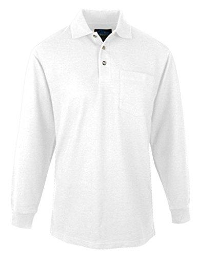Tall Spartan Long Sleeve Golf Shirt, White, Tall 2XL