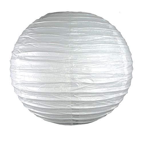 EinsSein 1 x LAMPION Large Weiss DM 35cm Hochzeit Wedding Laterne Papierlampion