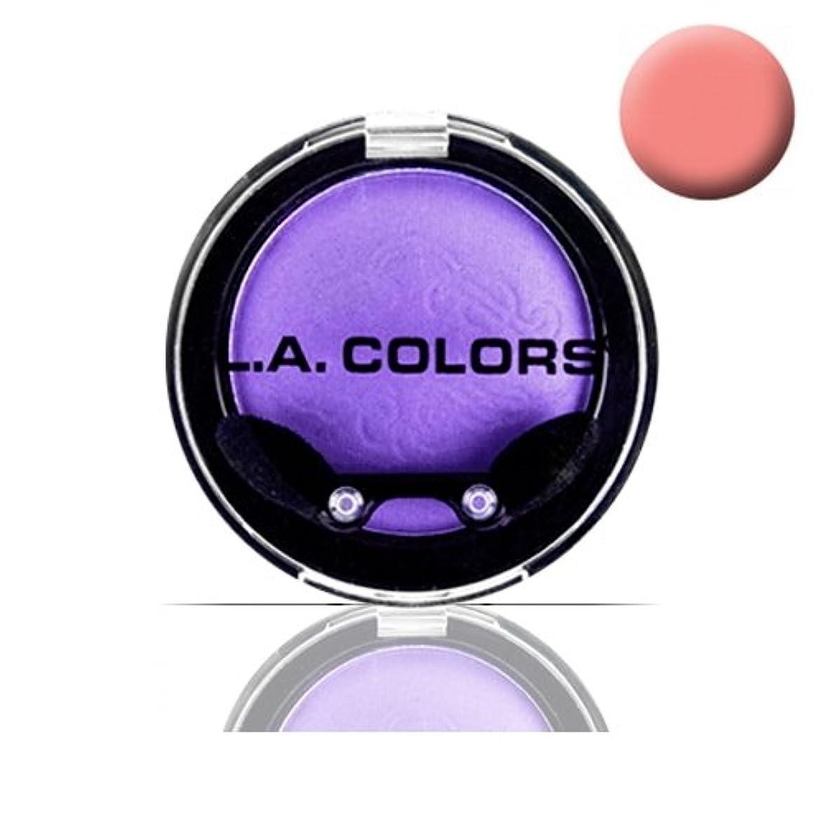 インレイ爆発刺す(6 Pack) LA COLOR Eyeshadow Pot - Just Peachy (並行輸入品)